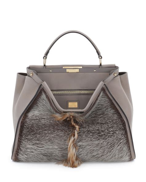 Fendi Bags by Fendi Fall Winter 2014 Bag Collection Feature Metallic