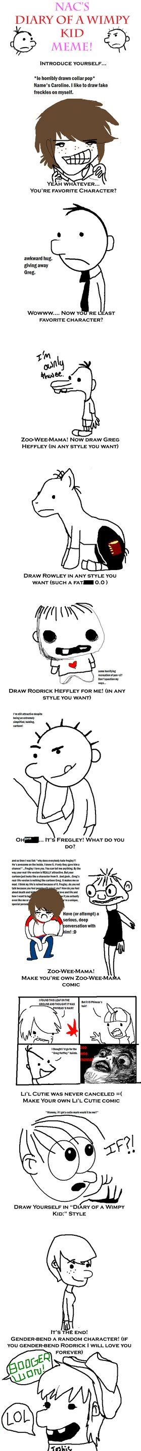 Wimpy Meme - diary of a wimpy kid meme by abductionfromabove on deviantart