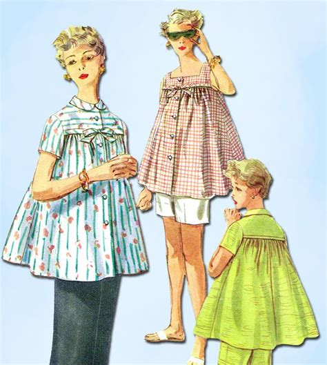 vintage maternity pattern 1950s vintage simplicity sewing pattern 1174 maternity top