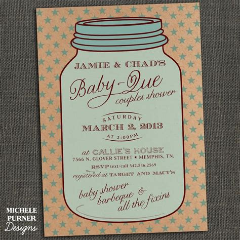 Jar Baby Shower Invitations jar baby shower invitations theruntime