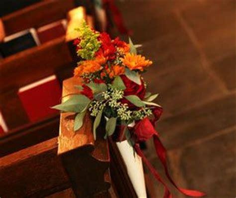 fall wedding church decorations 1000 ideas about church pew wedding on church