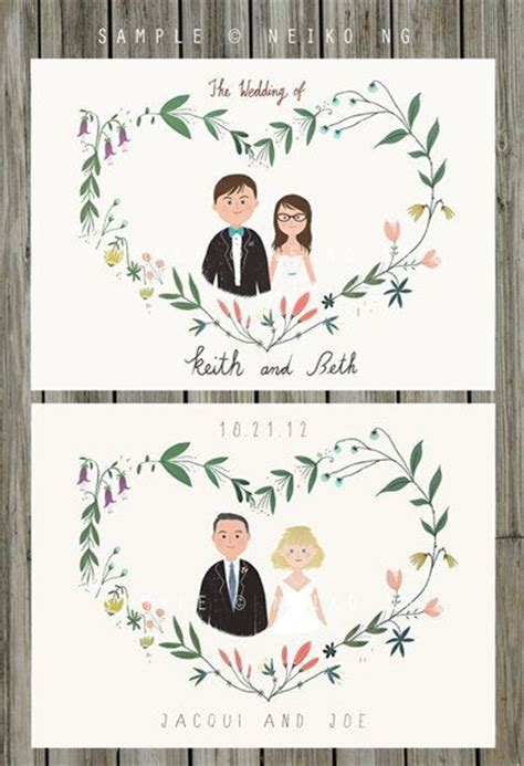wedding invitations caricature drawings 17 best images about in print on creative