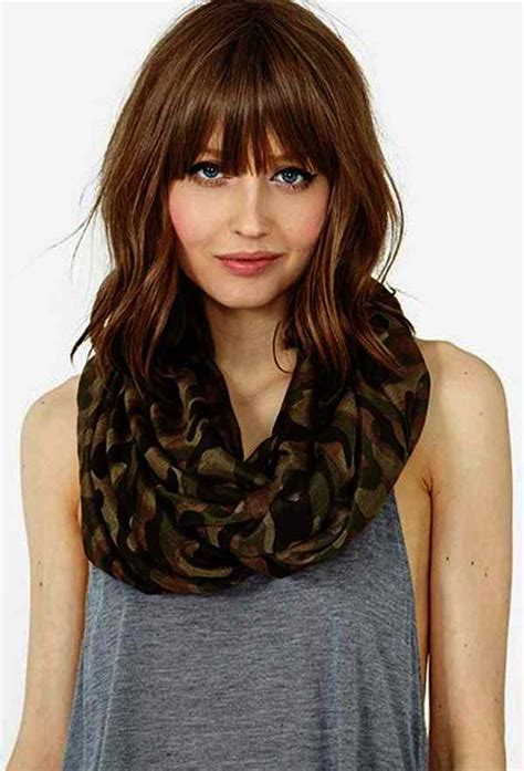 hairstyles with bangs on round faces 25 modern medium haircuts ideas elle hairstyles