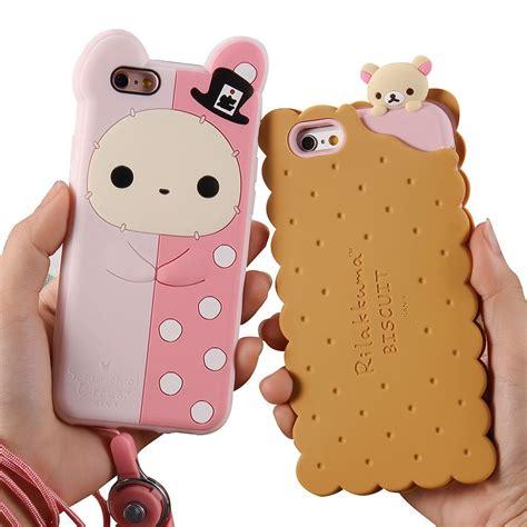 Rilakkuma Iphone 6 6s 3d biscuits rilakkuma soft silicone cover
