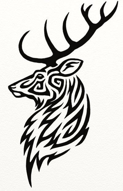 tribal elk tattoos the gallery for gt tribal deer design