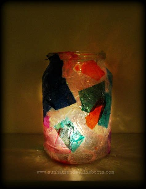 How To Make Tissue Paper Lanterns - sun hats wellie boots glowing tissue paper lanterns