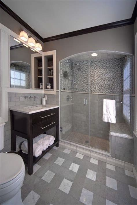 bathroom trim ideas gray bathroom love the dark crown molding 30 bathroom