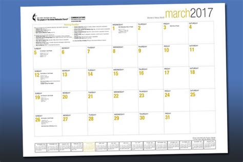 desk blotter calendar 2017 2017 desktop blotter united methodist communications