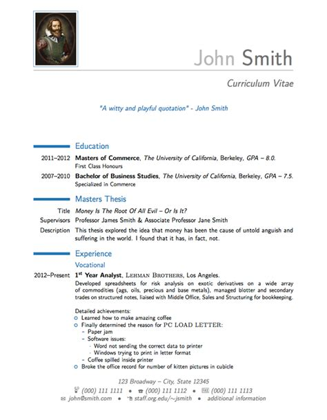 latex templates 187 moderncv and cover letter