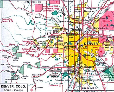 map of denver colorado downtown denver city park map pictures to pin on pinsdaddy