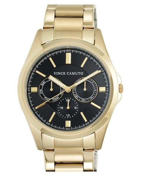 vince camuto chronograph bracelet in gold for