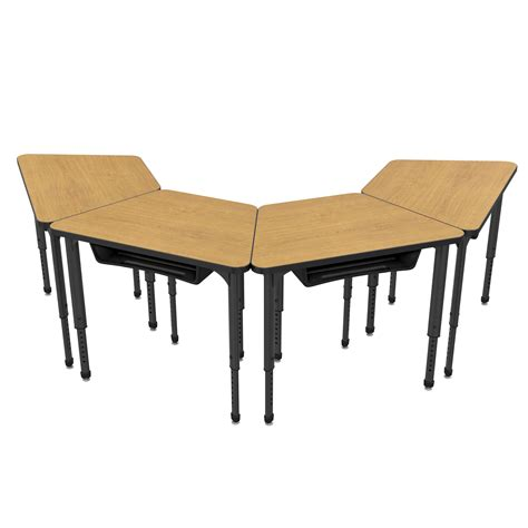 Trapezoid Desk by Apex Trapezoid Student Desk Marco Inc
