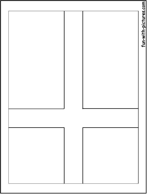 denmark flag coloring page