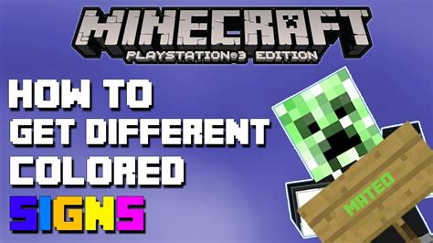 minecraft colored signs minecraft playstation 3 edition how to get different