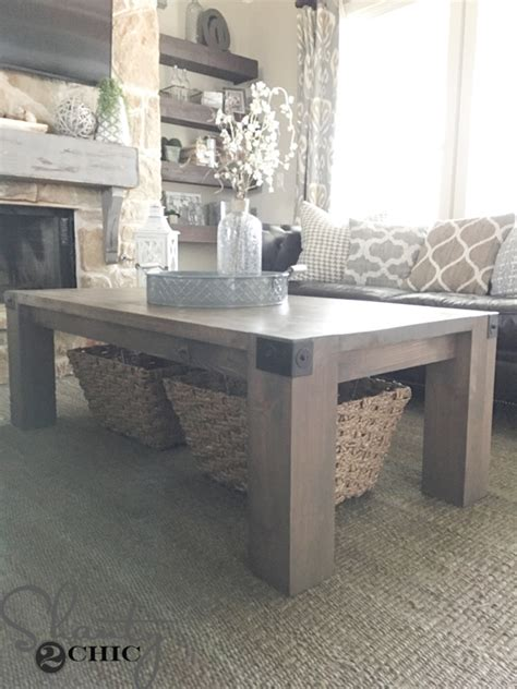industrial farmhouse coffee table modern farmhouse coffee table and how to shanty 2 chic