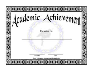 academic achievement certificate template academic achievement certificate academic success award
