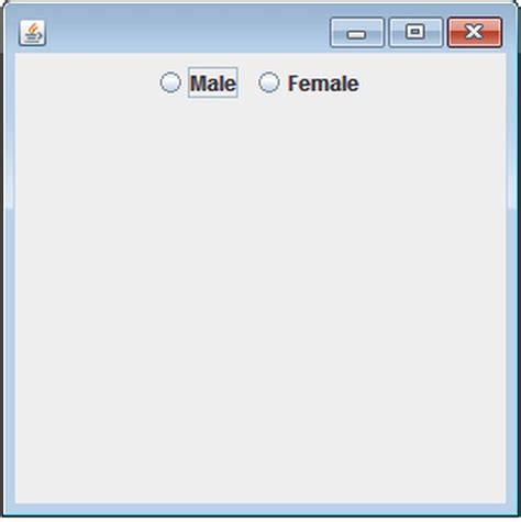 how to use radio button in java swing radio button in java using netbeans ide