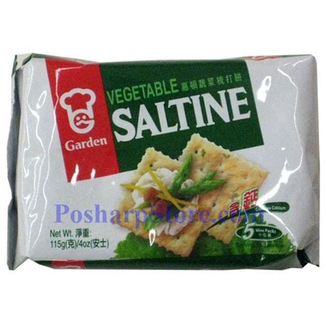 Garden Vegetable Saltine Cracker 4 Oz Garden Vegetable Crackers