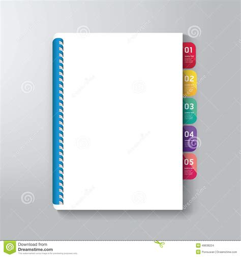 book cover design templates book cover with tab design style template stock vector