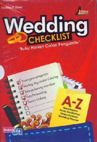 Wedding Checklist Indonesia by Bukukita Wedding Checklist Buku Harian Calon Pengantin