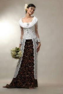 white wedding dresses 2009 fashion show white wedding dress kebaya design