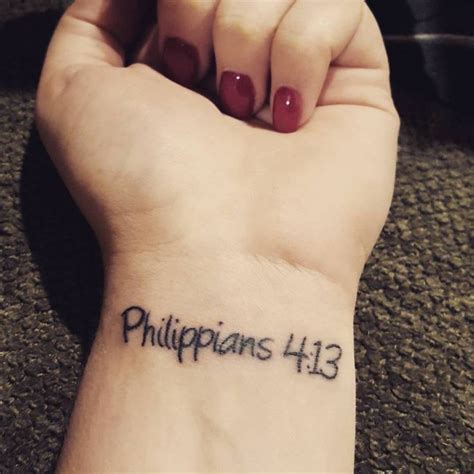 philippians 4 13 wrist tattoo 386 best christian tattoos images on dove
