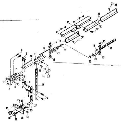 Rail Assembly Diagram Parts List For Model 139664953 Craftsman Garage Door Parts List