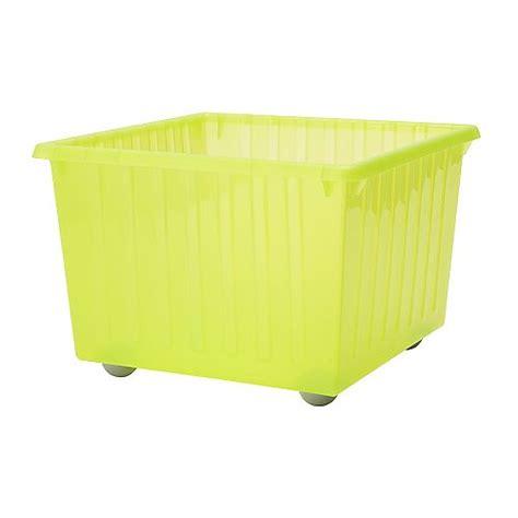 ikea crate vessla storage crate with castors light green ikea
