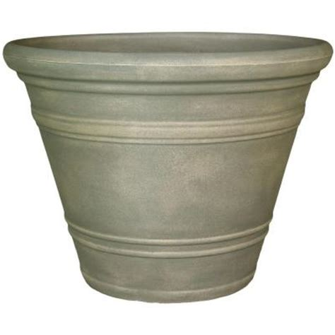 Home Depot Planter by Planters 40 In Resin Dove Gray Pienza Planter