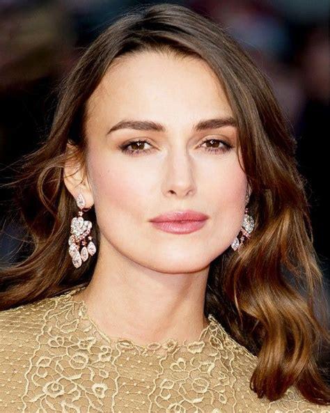 pink earrings celebrity keira knightley wears cascading pink pendant earrings