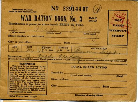 printable ration book template 2728 best images about crafty printebels on pinterest