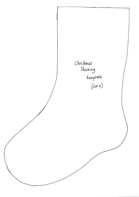 cut out pattern for christmas stocking 11 best photos of christmas felt craft templates