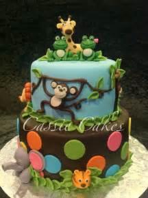 baby jungle animals baby shower cake cakes