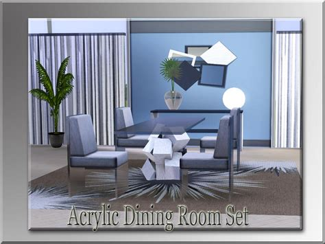 Acrylic Dining Room Set by Fantasticsims Acrylic Dining Room Set