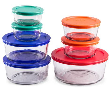 pyrex glass storage containers catchoftheday au pyrex glass food storage 14 set