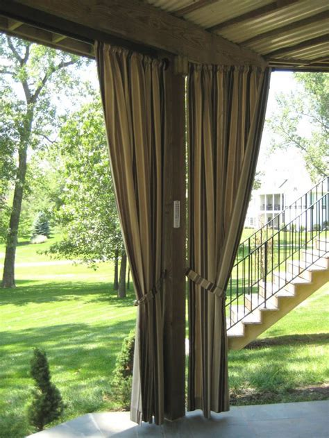 outdoor drapes curtains under the deck under the deck pinterest