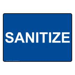 sanitize sign nhe 13165 washing