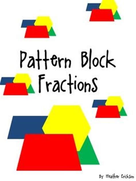 mixed numbers pattern blocks 17 best images about math on pinterest math notebooks