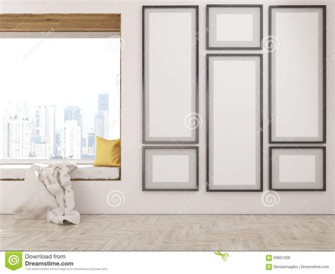 window seat instrumental frame collection window seat stock illustration image