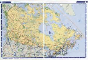 large detailed highways map of canada with time zones