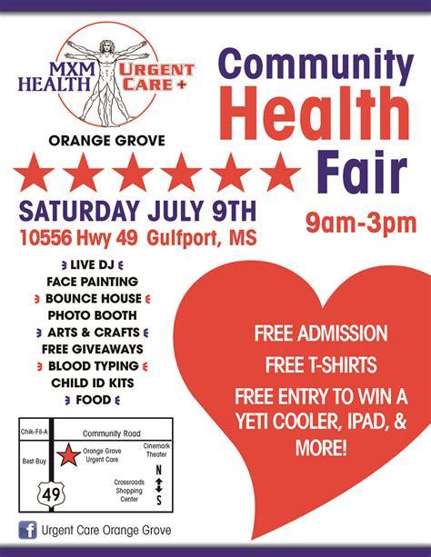 Health Fair Giveaway Ideas - health fair flyer