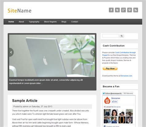 theme drupal blog th 232 mes templates pour blog magazine et journal beaux