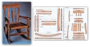 rocking chair plans woodarchivist