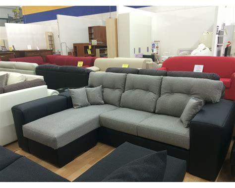 divani bicolore divano angolare tessuto eco pelle bicolore 4 posti moderno