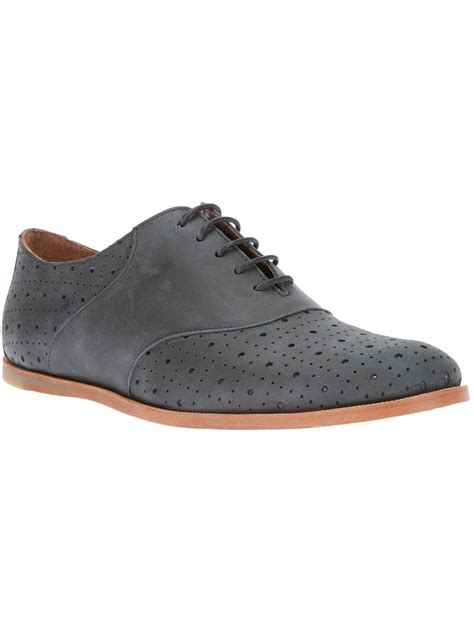 gray oxford shoes opening ceremony m2 perforated oxford shoe in gray for