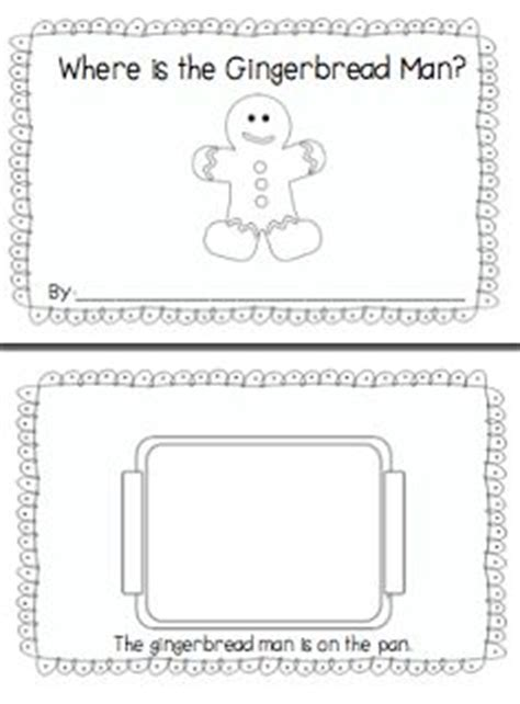 preschool gingerbread man printable book hlc december on pinterest mittens gingerbread man and