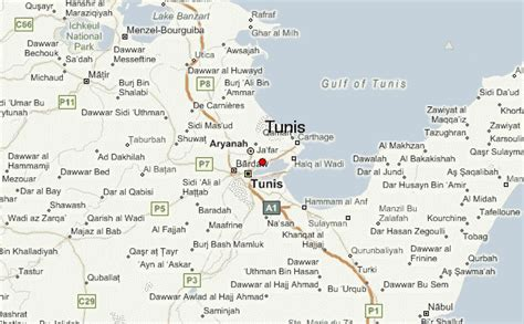 where is tunisia located on a map tunis location guide