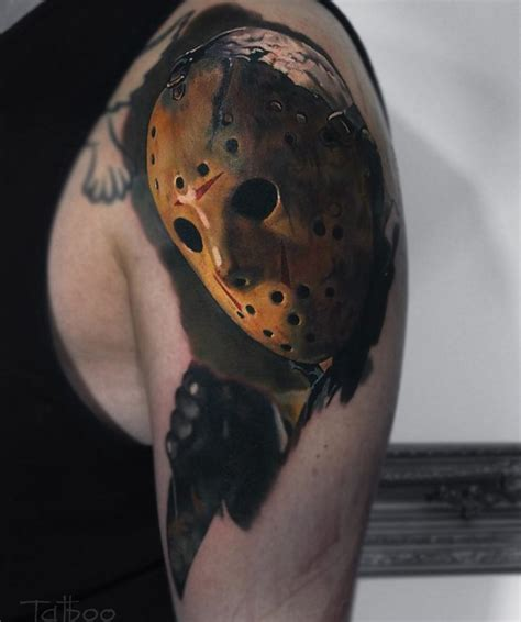 jason voorhees mens arm piece best tattoo design ideas