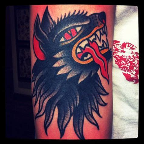 wolf american traditional tattoo art amp illustration