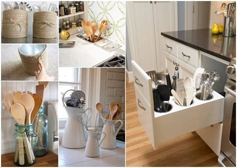 Kitchen Utensil Storage Ideas Kitchen Utensil Holder Ideas Gallery